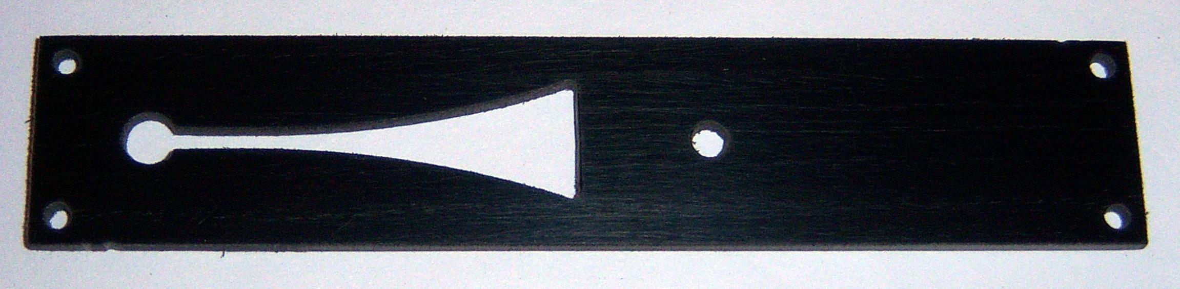 Ampico 'A' Tempo Slide Plate