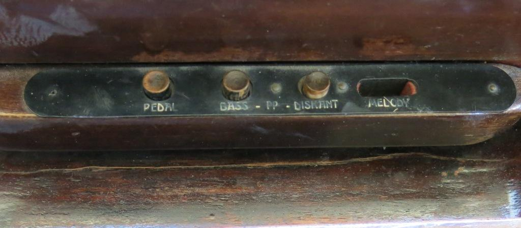 Controls in front of keys