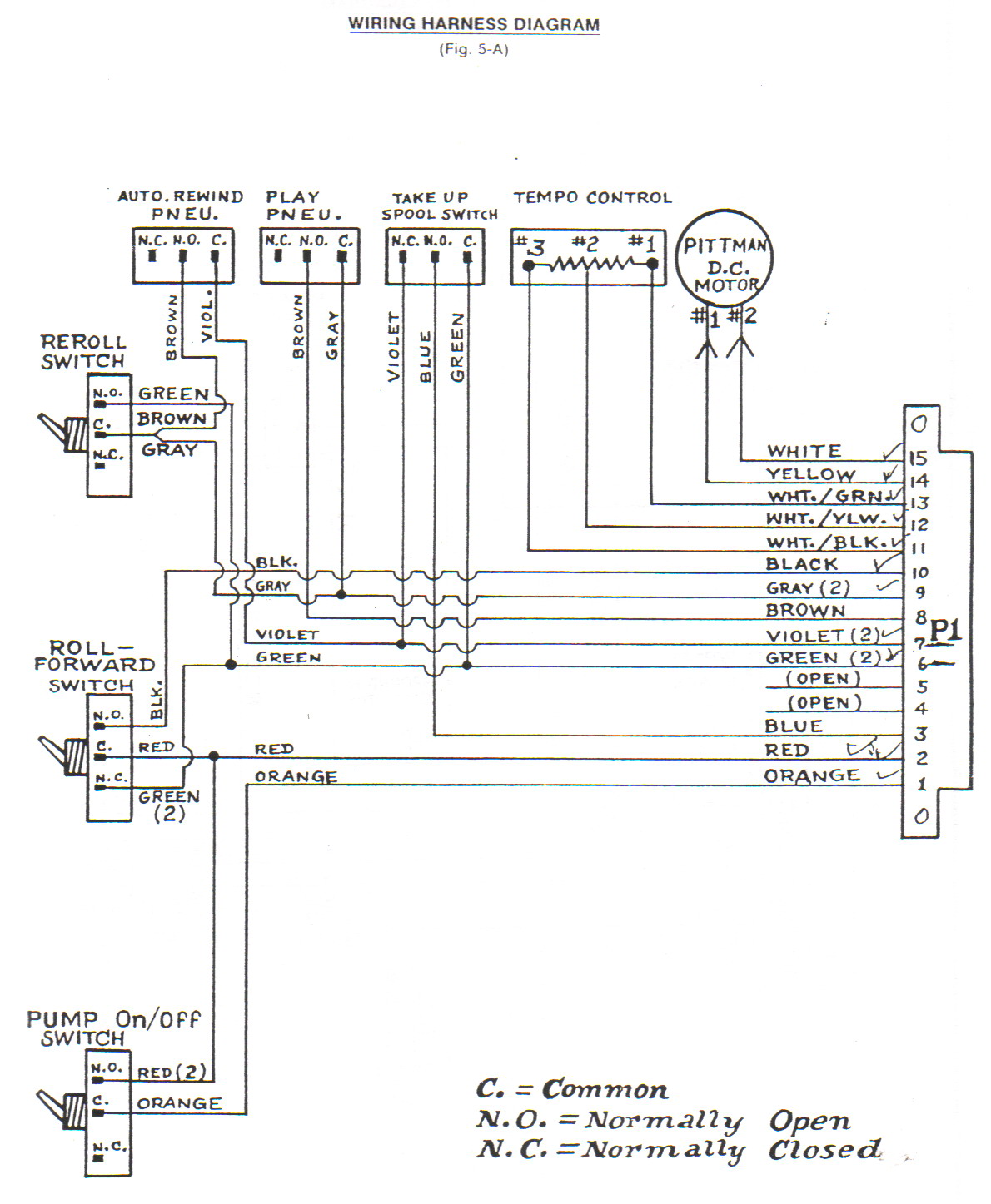 classic player piano wiring diagrams  player-care.com