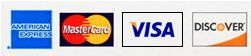 Discover, VISA, MasterCard, American Express