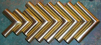 New 3/8 in. Brass Tubing Elbows for Player Pianos