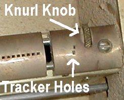 Transposing Trackerbar Knurl Knob