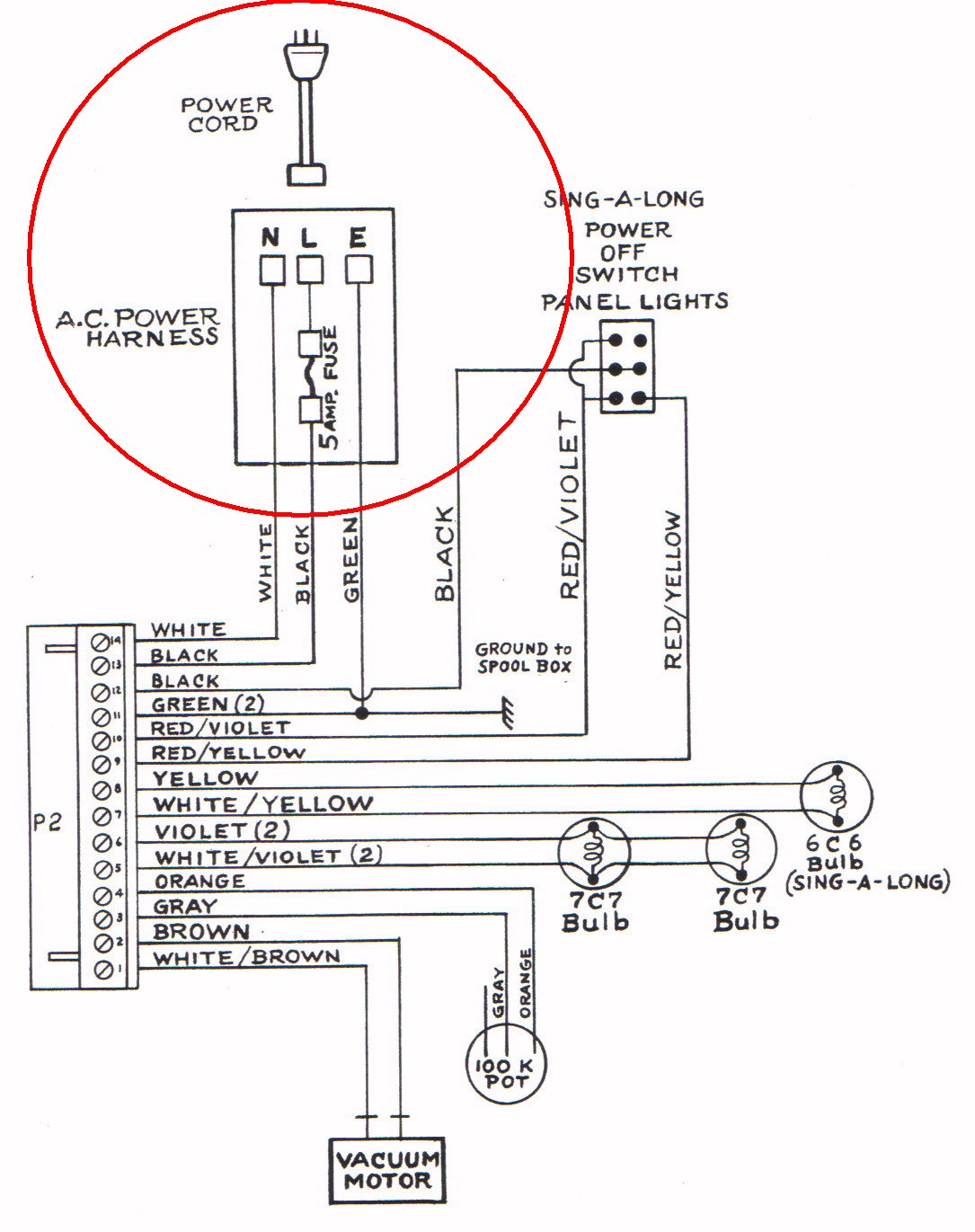 universal power cord universal p2 power cord